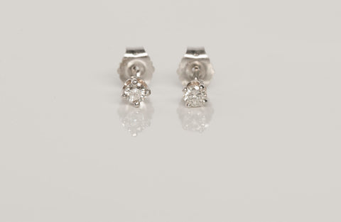 Diamond Stud Earrings 14k White Gold .20tcw