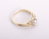 18k Yellow Gold .75tcw Round Brilliant Diamond Engagement Ring Size 7