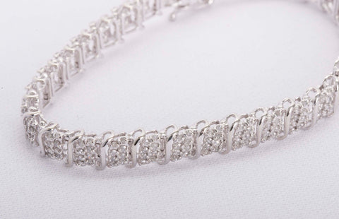 1.34CTW Diamond Bracelet White Gold
