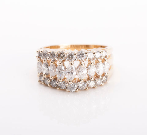 Stunning 14k Yellow Gold 1.07tcw Diamond Fashion Ring