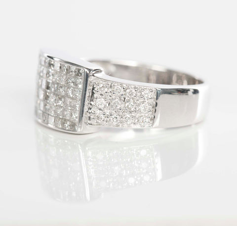 14K White Gold 1.44CTW Diamond Ring (uni-sex)