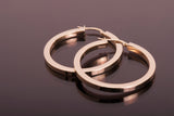 14k Italy Minor Hoop Earrings Yellow Gold