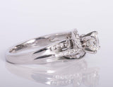Engagement Ring .71ct Natural Diamond 14k White Gold Size 6.5