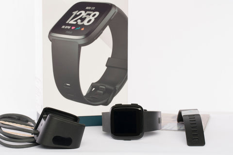 Fitbit Versa 1 Smart Watch Black/Black