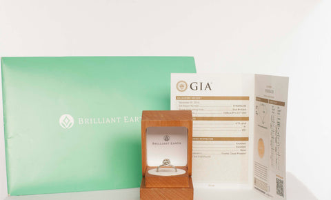 GIA GRADED Brilliant Earth Oval Diamond 18K Engagement Ring