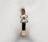Ladies GIA Solitaire Princess Cut Diamond Ring .35TCW Size 5.25 14K Yellow Gold
