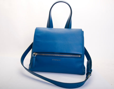 GIVENCHY Pandora Pure Blue Leather Satchel Cross Body