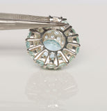 Beautiful Blue Topaz Dome Ring AND Matching Pendant Set!