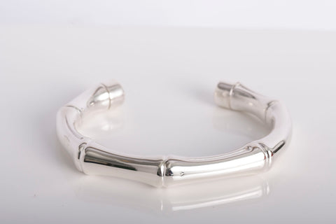 250ff4fed Gucci Bamboo Bracelet Bangle Silver 925 – Posh Pawn