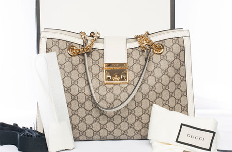 Authentic Gucci Padlock Medium GG Shoulder Bag