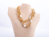 Vintage Gucci Gold Tone Oval Chain Necklace