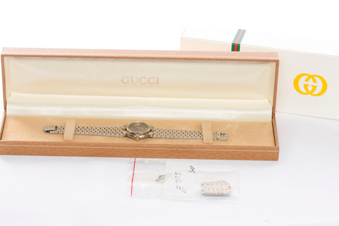 Authentic GUCCI Ladies 9000M Two-Tone Swiss Made Watch
