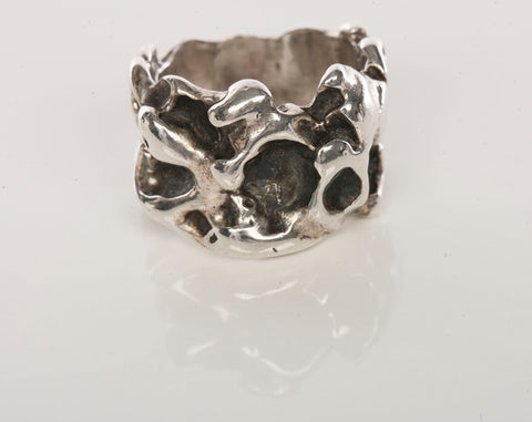 Unique 925 Sterling Silver Nugget Ring