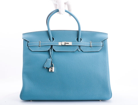 Hermés Birkin 40 Togo Leather Blue Jean
