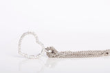 18k White Gold Diamond Heart Bracelet