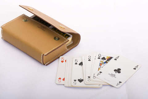 Hermės Cards in Leather Pouch