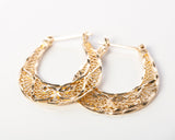 gold filigree hoop earrings