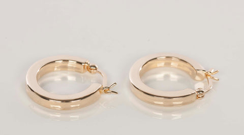 Sweet 14K Yellow Gold Hoop Earrings