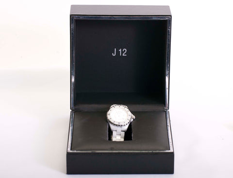 33mm Chanel Diamond Dial J12 H2000 Ladies White Ceramic Wristwatch