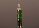 18k Yellow Gold Beautiful Jade Pendant