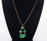 Stunning 14k Yellow Gold Jade Necklace
