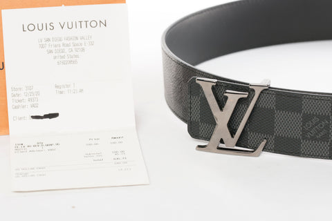 Authentic LOUIS VUITTON Reversible LV Initials Belt Size 95