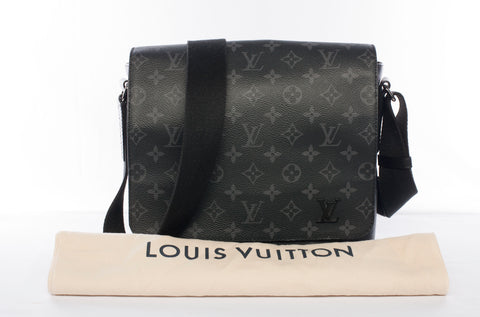 Authentic Louis Vuitton Monogram Eclipse District PM Messenger Bag