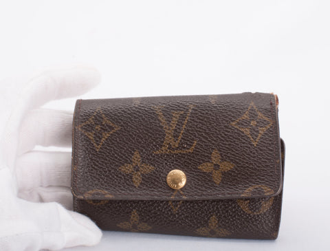 Authentic LOUIS VUITTON Monogram 5 Key Ring Holder