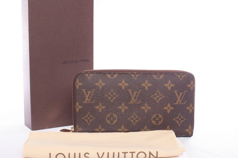 Authentic LOUIS VUITTON Zippy Organizer Monogram Wallet