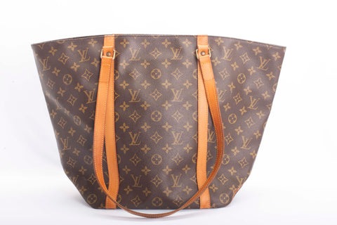 Auth. LOUIS VUITTON Monogram SAC SHOPPING Shoulder Bag M51108 Tote w/COA