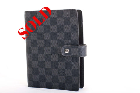 Graphite Louis Vuitton Ring Agenda Cover for sale at Posh Pawn Shop