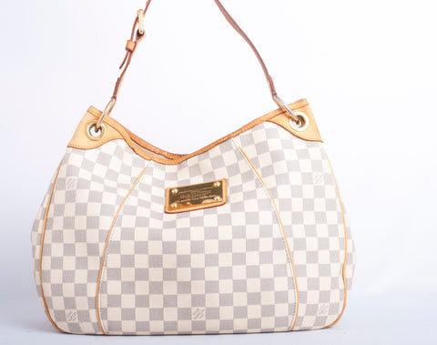 Authentic LOUIS VUITTON Galleria PM Damier Azur Hobo Shoulder Bag