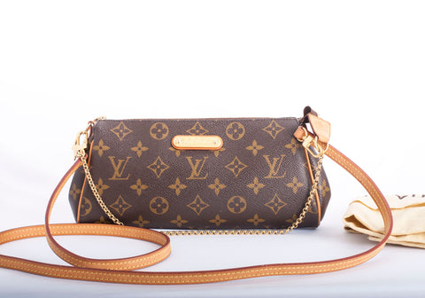 Authentic LOUIS VUITTON Eva Monogram Crossbody Handbag