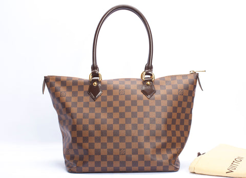 Authentic Louis Vuitton Damier Ebene Saleya MM Shoulder bag