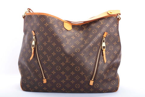 Auth. LOUIS VUITTON Delightful GM Handbag Monogram Large Hobo RETIRED w/COA