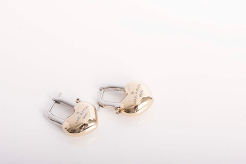 LOUIS VUITTON Crazy In Lock Gold Tone Earrings