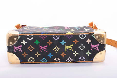 Auth Louis Vuitton Boulogne Multicolor Monogram Shoulder Bag with COA