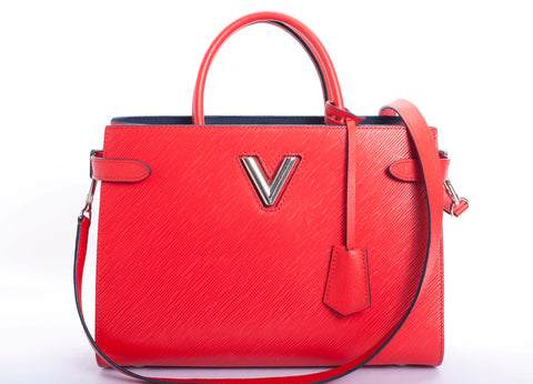 Louis Vuitton Twist Coquelicot Epi Leather Tote with COA