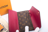 Auth. LOUIS VUITTON JOSEPHINE Wallet Monogram Fuschia M60708 MINT