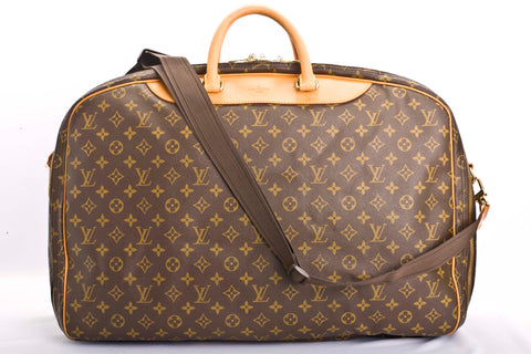 Auth Louis Vuitton Vintage Alize 2 Monogram Luggage Bag with COA