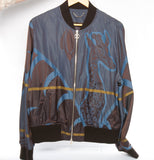 Authentic LOUIS VUITTON Limited Edition Men's Giraffe Nylon Bomber Jacket