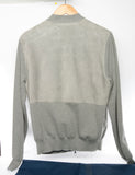 Authentic LOUIS VUITTON Men's Suede Knit Zip Cardigan