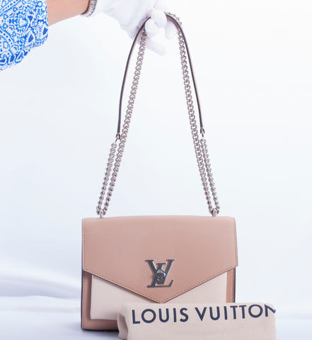 Auth Louis Vuitton Mylockme BB Leather Cross body LKNW w COA