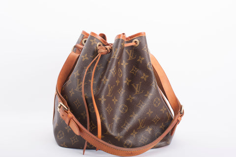 Authentic LOUIS VUITTON Vintage Monogram Noe Petite Bucket Shoulder Bag