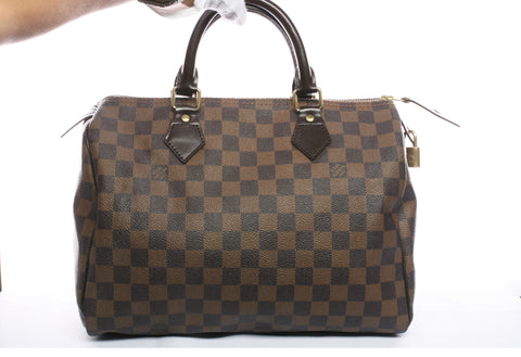 Authentic LOUIS VUITTON Speedy 30 Damier Ebene Handbag
