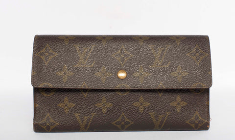 Authentic LOUIS VUITTON Monogram Sarah Wallet