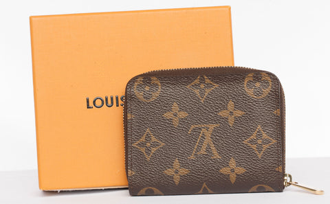 Authentic LOUIS VUITTON Small Zippy Coin Monogram Wallet
