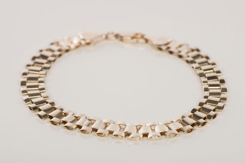 10k Yellow Gold Rolex Style Link Bracelet