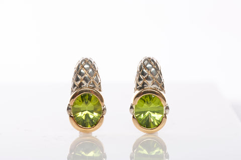 LORENZO Jewelry Design Peridot Earrings 18k Sterling Silver