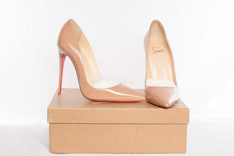 Authentic CHRISTIAN LOUBOUTIN So Kate 120 Patent Leather Stiletto Heels